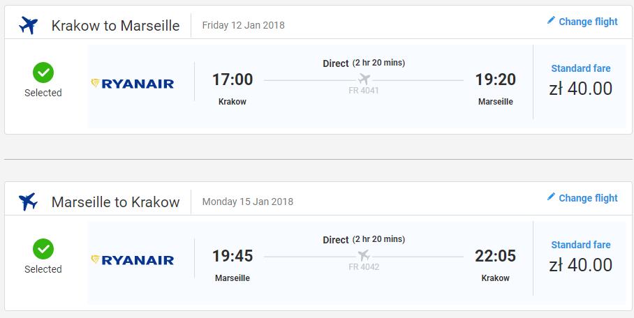 Marseille z Krakova s letenkami od 20 eur