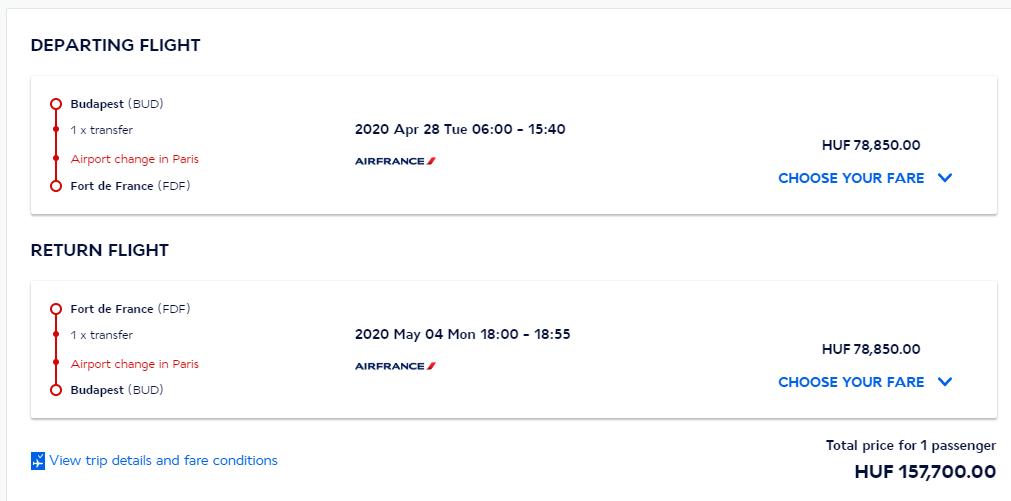 Martinik z Budapešti s letenkami od 467 eur