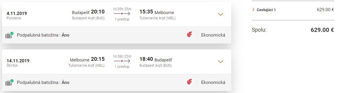 Melbourne a Sydney z Budapešti s letenkami od 629 eur
