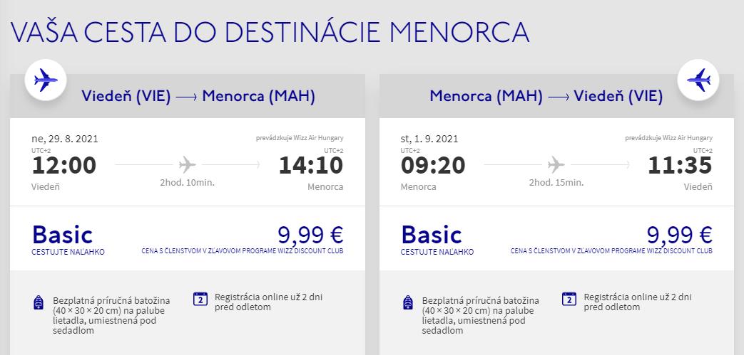 Menorca koncom letných prázdnin. Letenky z Viedne už od 20 eur
