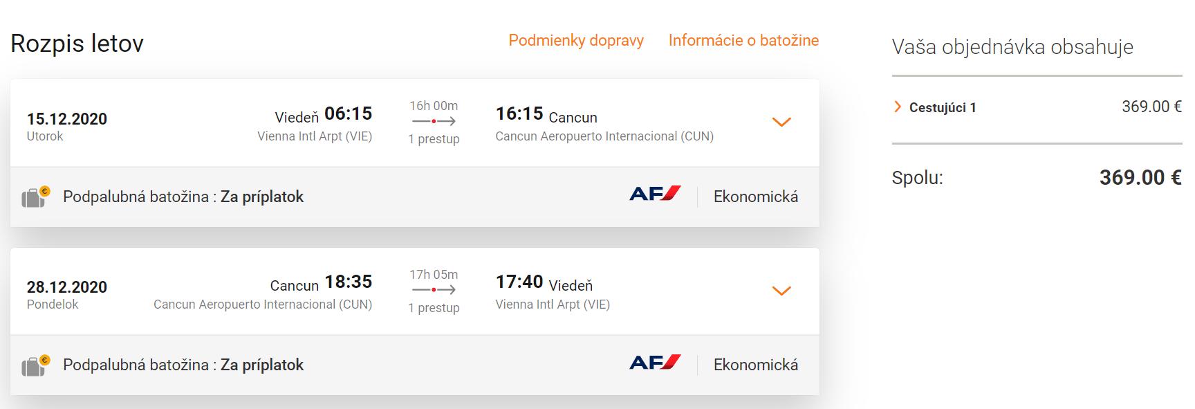 Mexický Cancun z Viedne počas hlavnej sezóny s letenkami od 369 eur