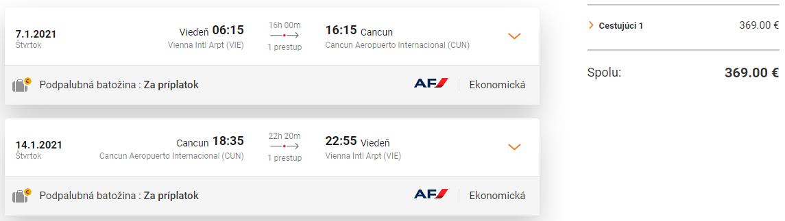 Mexický Cancun z Viedne začiatkom budúceho roka s letenkami od 369 eur