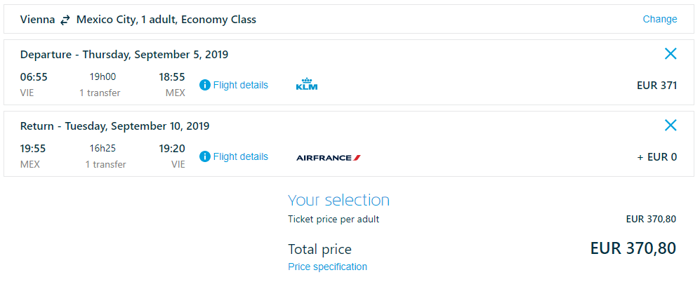 Mexico City z Viedne s KLM. Spiatočné letenky od 371 eur