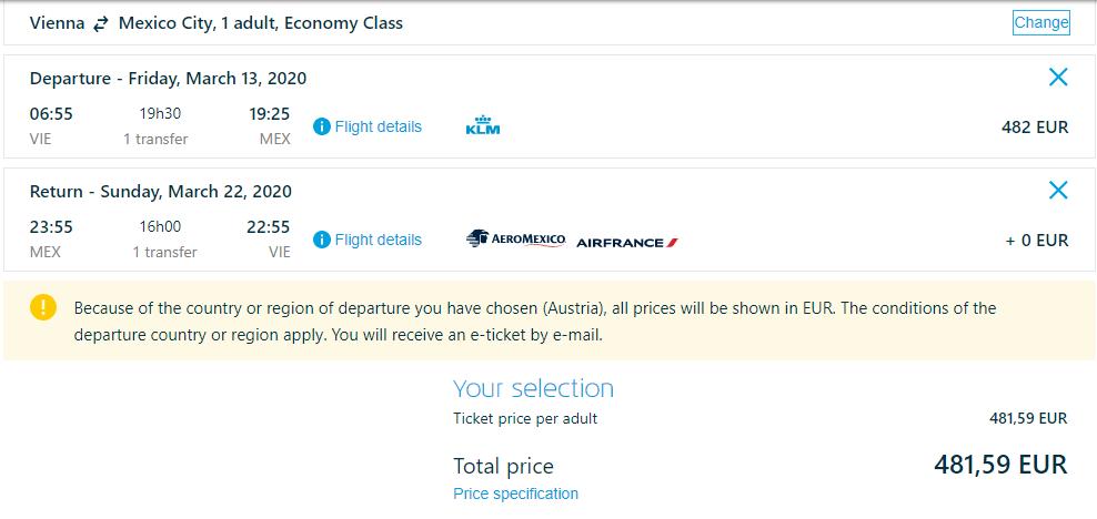 Mexico City z Viedne s KLM. Spiatočné letenky od 482 eur