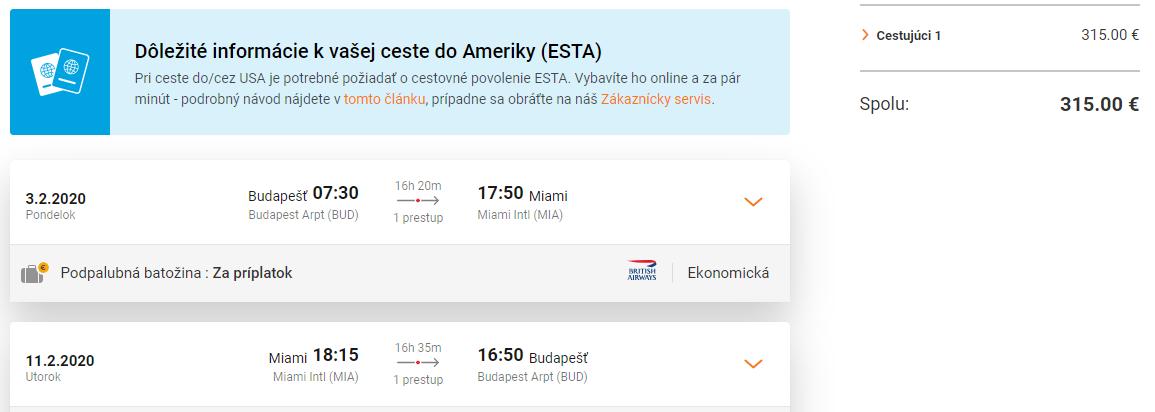 Miami z Budapešti s letenkami od 315 eur
