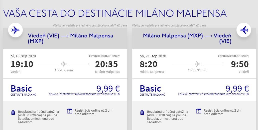 Miláno koncom leta. Letenky z Viedne aj na predĺžený víkend od 20€
