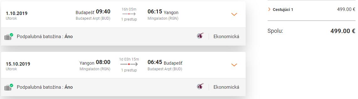 Mjanmarsko s Qatar Airways. Yangon z Budapešti s letenkami od 499 eur