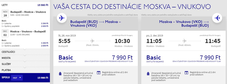 Moskva koncom roka s letenkami z Budapešti od 47 eur