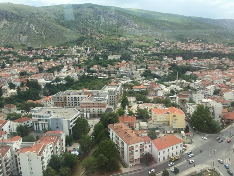 Mostar - výhľad zo zvonice