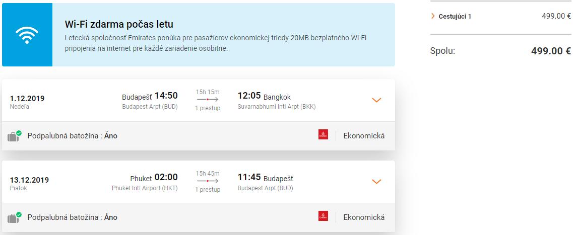 Multi-city letenky z Budapešti do Bangkoku a s návratom z Phuketu od 499 eur