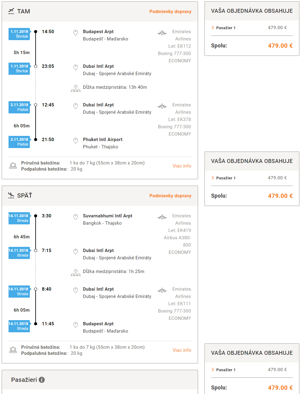 Multi-city letenky z Budapešti na Phuket a s návratom z Bangkoku od 479 eur