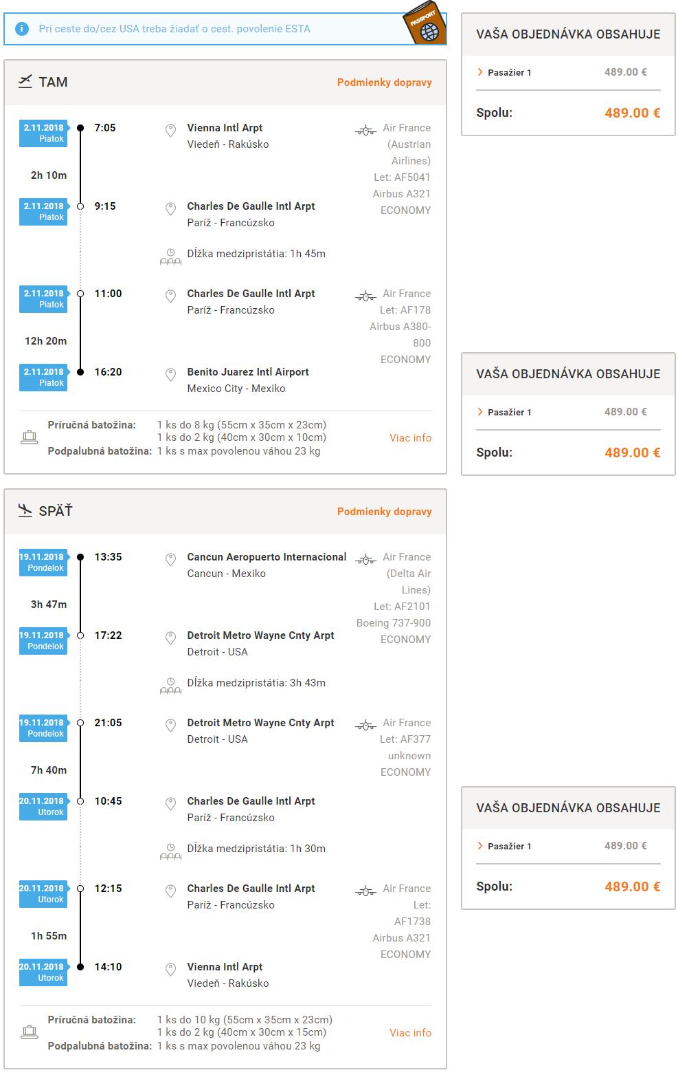 Multi city letenky z Viedne do Mexico City a s návratom z Cancunu od 489 eur