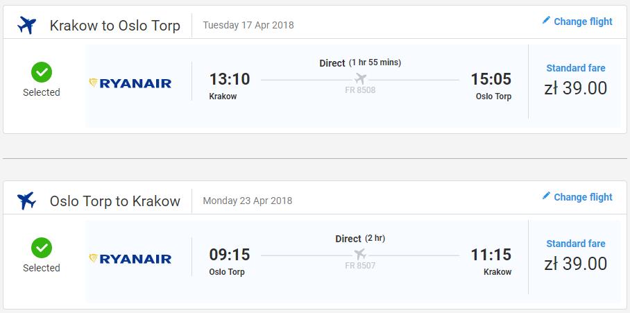 NÓRSKO - Oslo z Krakova s letenkami od 18 eur