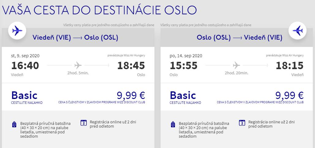NÓRSKO - Oslo z Viedne koncom leta s letenkami od 20 eur