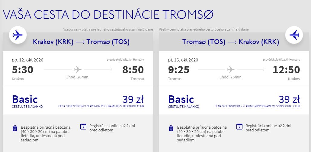 Nórske Tromso začiatkom jesene. Spiatočné letenky z Krakova už od 19 eur