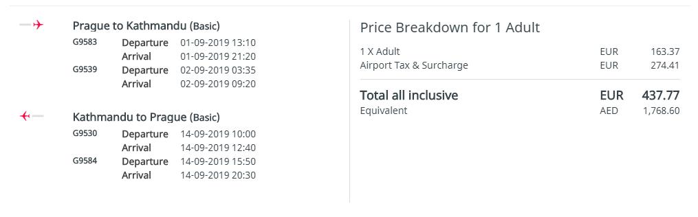 NEPÁL - Kathmandú z Prahy s letenkami od 439 eur