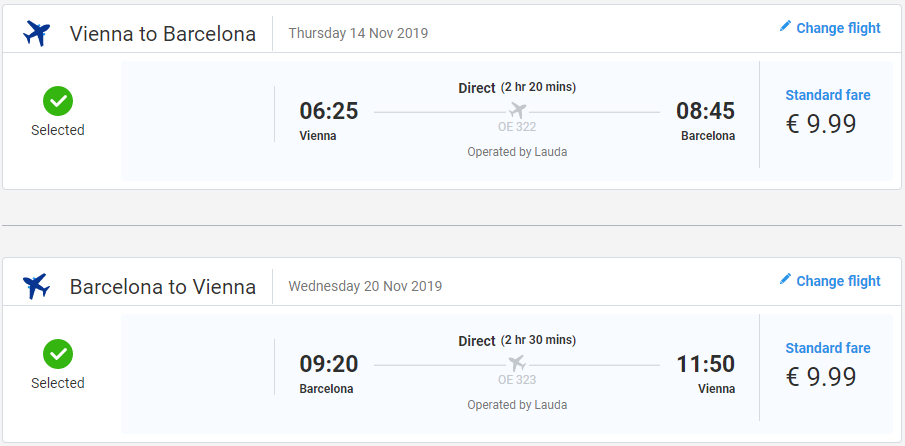 NOVEMBROVÁ BARCELONA - Spiatočné letenky z Viedne od 20 eur