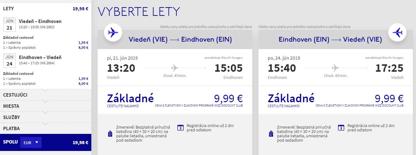 Na predĺžený víkend do Eindhovenu. Spiatočné letenky z Viedne od 20 eur