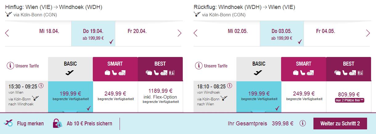 Namíbia z Viedne v jarných mesiacoch od 400 eur