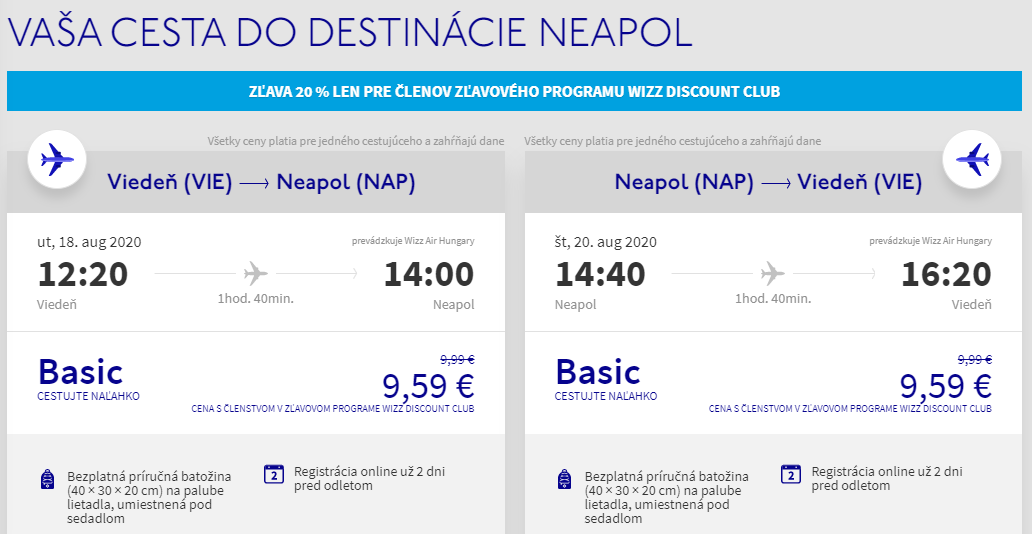 Neapol koncom prázdnin. Letenky z Viedne už od 19 eur