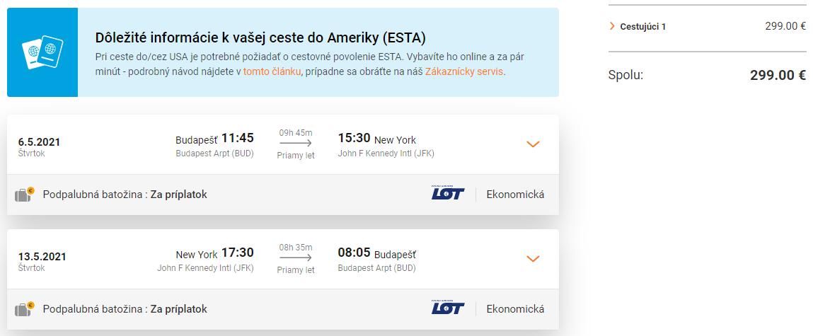 New York bez prestupov. Priame lety z Budapešti od 299 eur