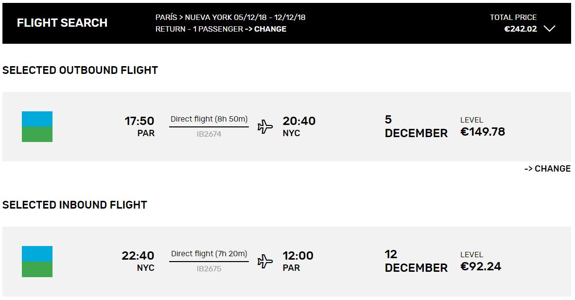 New York z Paríža s let.spoločnosťou LEVEL s letenkami od 242 eur