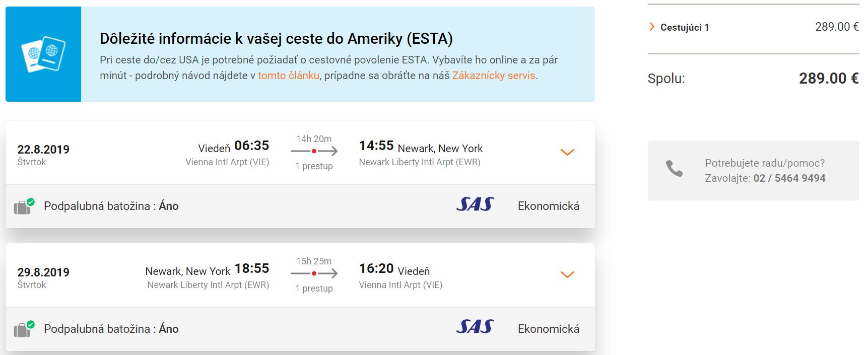 New York z Viedne aj s veľkou batožinou s letenkami už od 289 eur