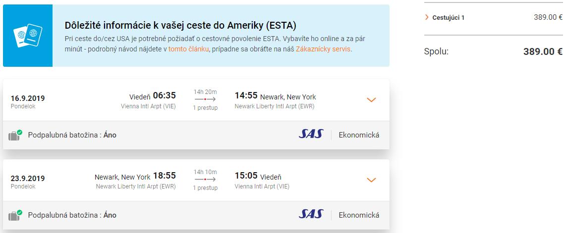New York z Viedne aj s veľkou batožinou s letenkami už od 389 eur