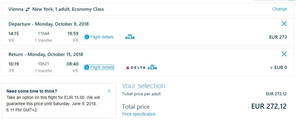 New York z Viedne s letenkami od 272 eur