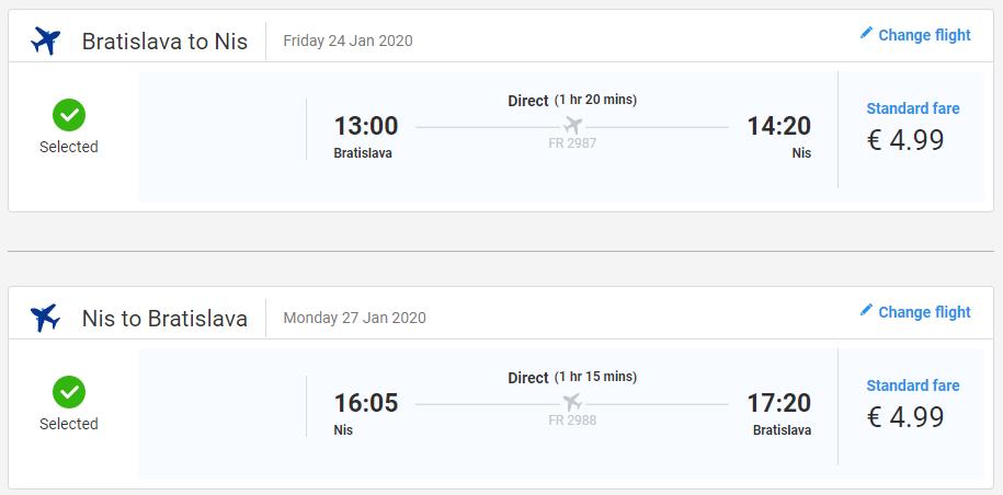 Niš z Bratislavy aj na predĺžený víkend s letenkami od 10 eur