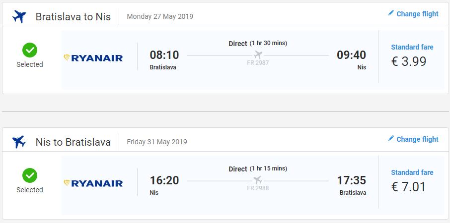 Niš z Bratislavy v májových termínoch od 11 eur