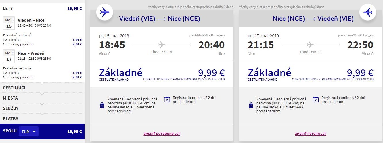 Nice z Viedne s letenkami od 20 eur