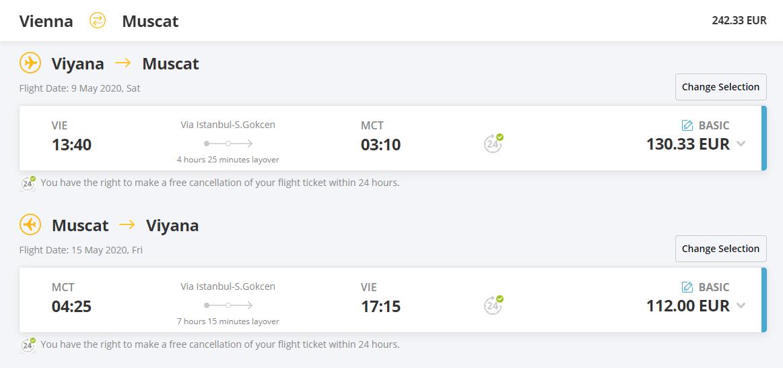 OMÁN - spiatočné letenky z Viedne do Muscatu už od 242 eur