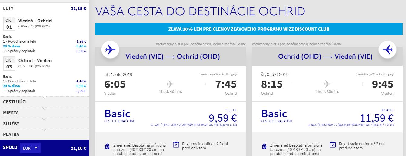 Ohrid z Viedne v jesenných termínoch od 21 eur