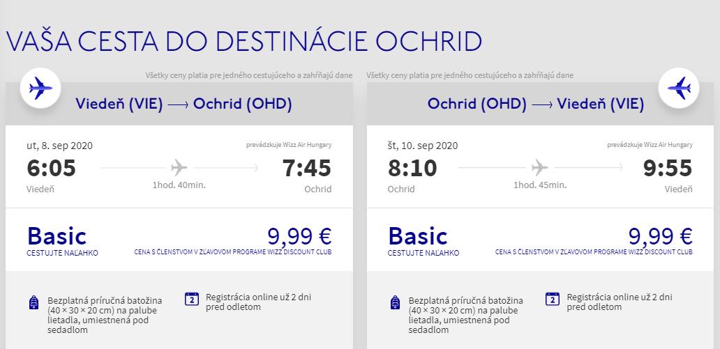 Ohrid z Viedne v septembrových termínoch od 20 eur