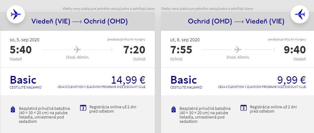 Ohrid z Viedne v septembrových termínoch od 25 eur