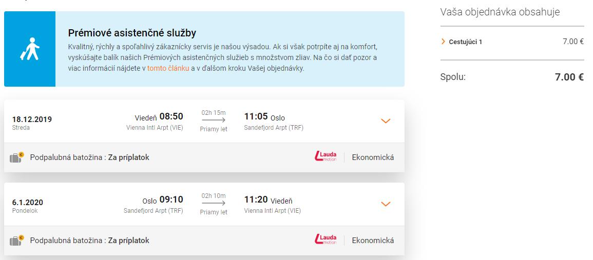 Oslo z Viedne s letenkami od 7 eur