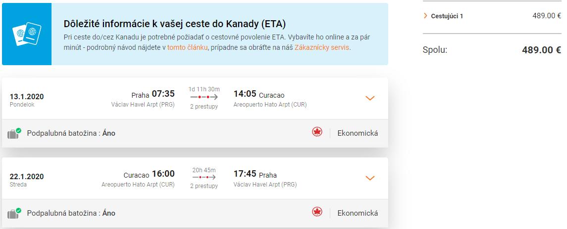 Ostrov Curacao z Prahy s letenkami od 489 eur