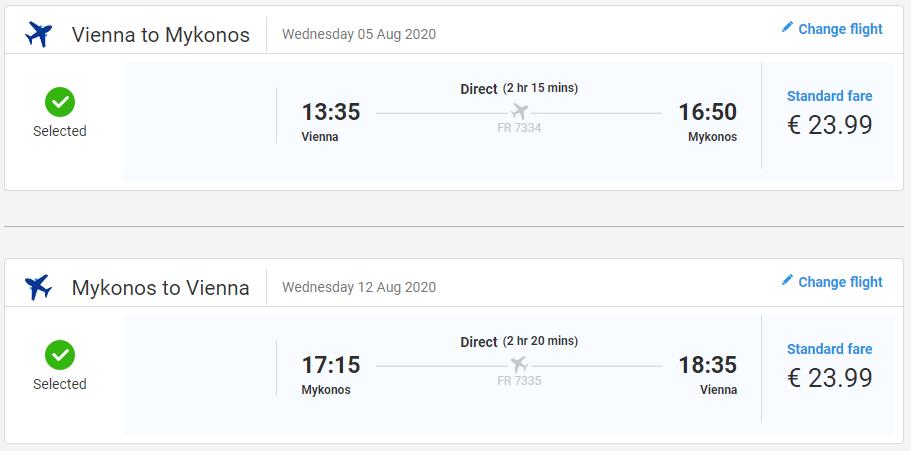 Ostrov Mykonos z Viedne cez letné prázdniny s letenkami od 48 eur