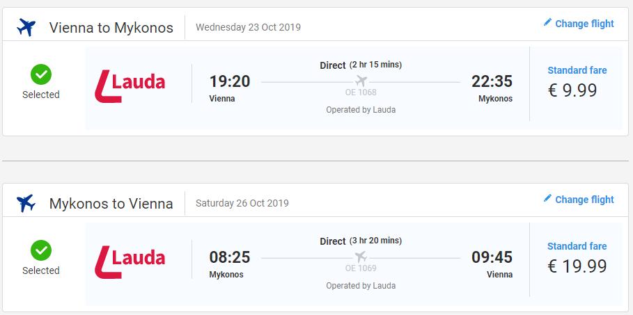 Ostrov Mykonos z Viedne s letenkami od 30 eur
