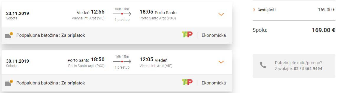 Ostrov Porto Santo z Viedne s TAP Portugal od 169 eur