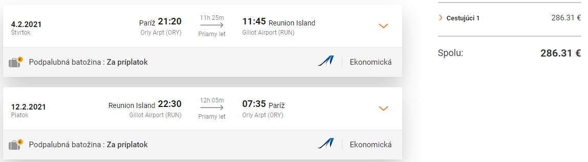 Ostrov Reunion z Paríža s letenkami od 299 eur