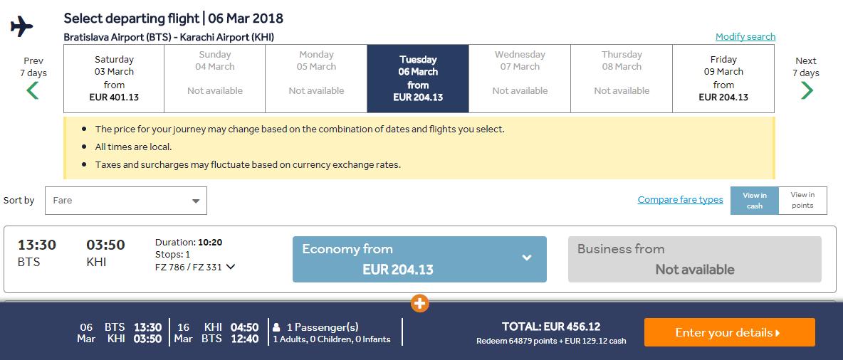 PAKISTAN Karáči a Sialkot z Bratislavy 456 eur