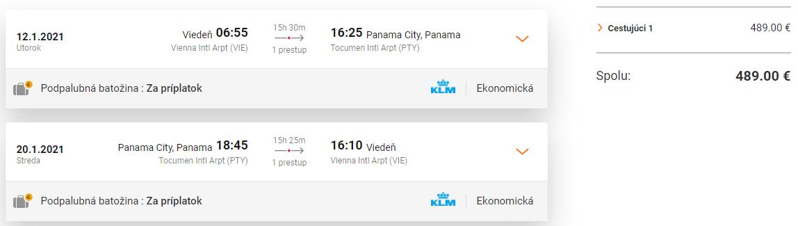 PANAMA - Spiatočné letenky z Viedne od 489 eur