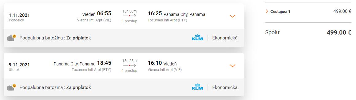 PANAMA - Spiatočné letenky z Viedne od 499 eur