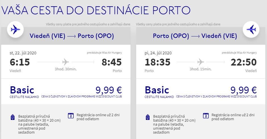PORTUGALSKO - Porto z Viedne cez letné prázdniny od 20 eur