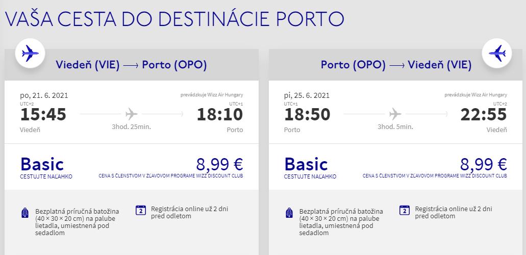 PORTUGALSKO - Porto z Viedne s letenkami od 18 eur