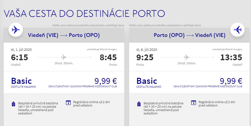 PORTUGALSKO - Porto z Viedne s letenkami už od 20 eur