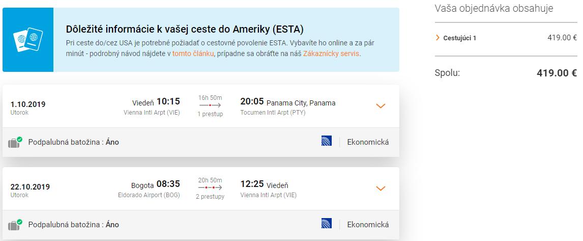 Panama a Kolumbia s multi-city letenkami z Viedne od 419 eur