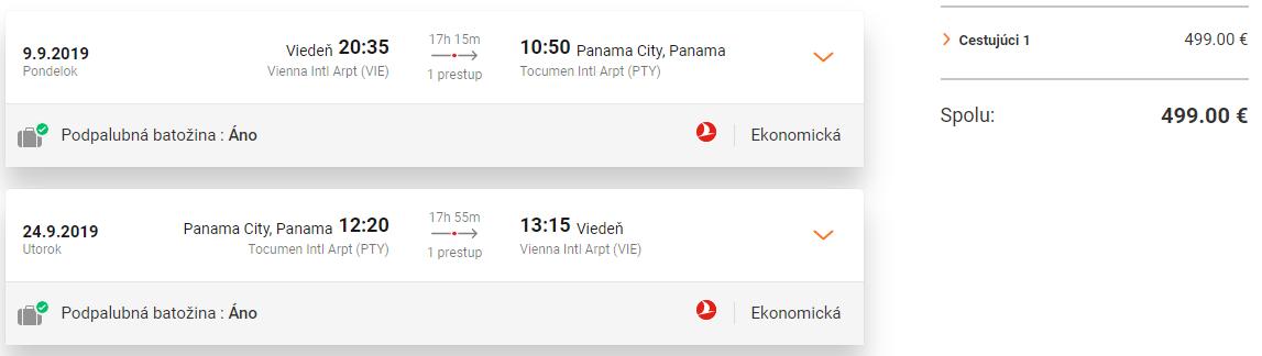 Panama a Kolumbia s multi-city letenkami z Viedne od 499 eur